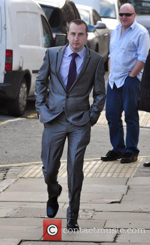 Andy Whymet arrives for the wedding of Simon...