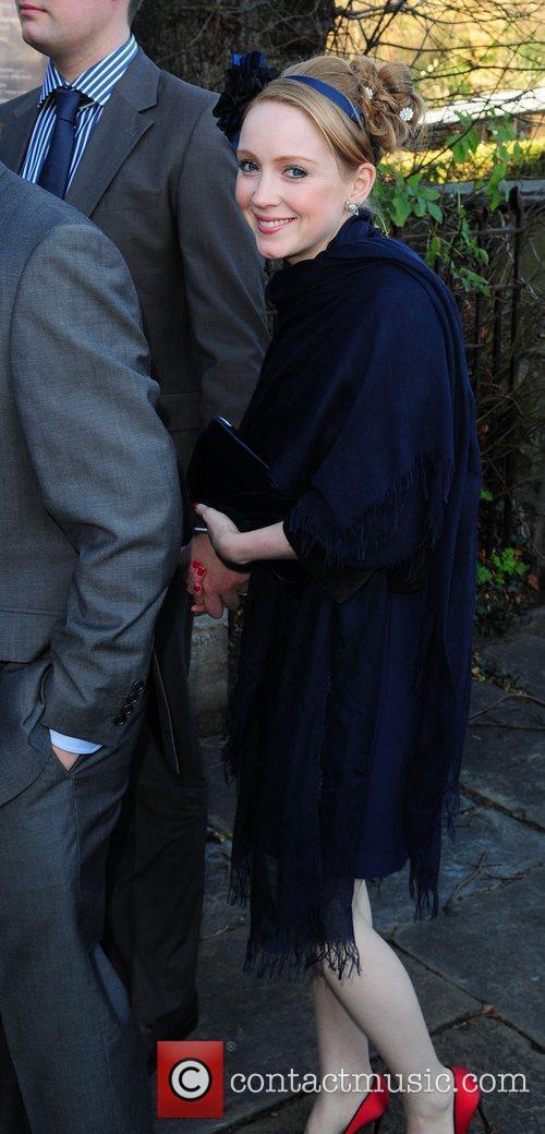 Julia Howarth arrives for the wedding of Simon...