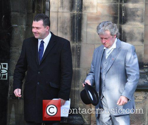 Charles Lawson  attends the wedding of Simon...