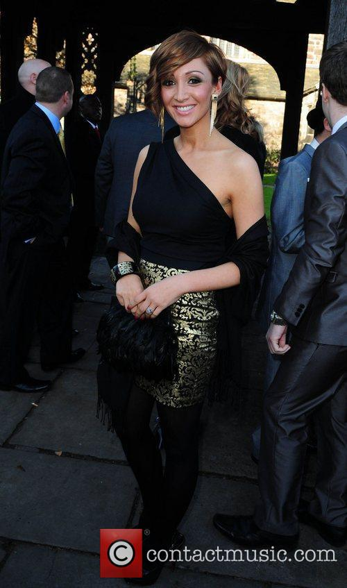Lucy Jo Hudson arrives for the wedding of...