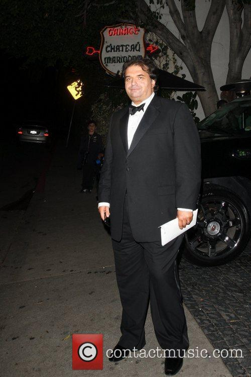 Simon Monjack leaves Chateau Marmont with an unknown...