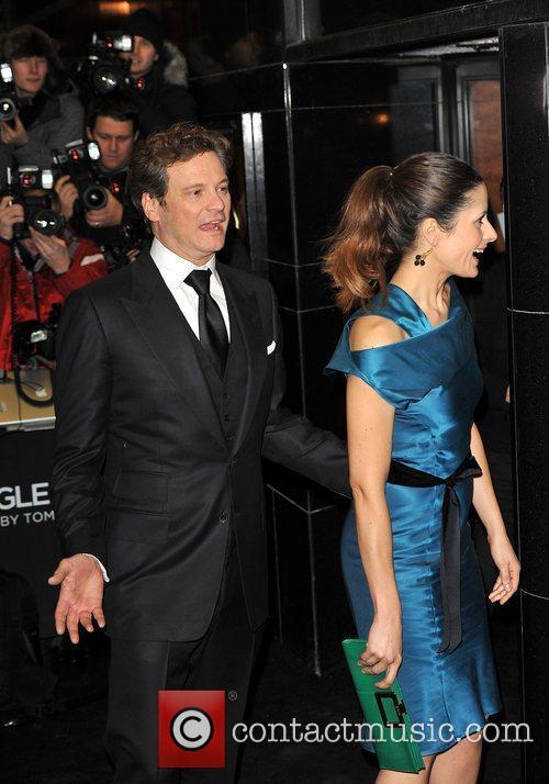 Colin Firth and Livia Guggiolo Single Man -...