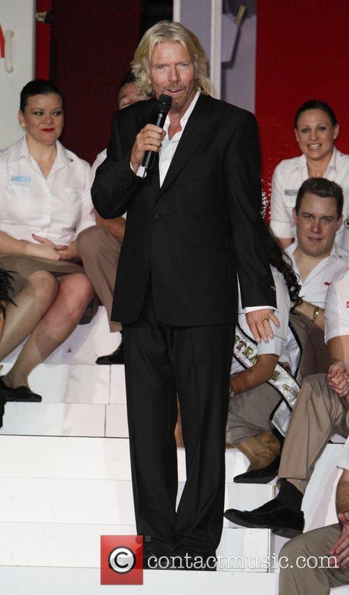 Sir Richard Branson celebrates Virgin Australia Airlines tenth...