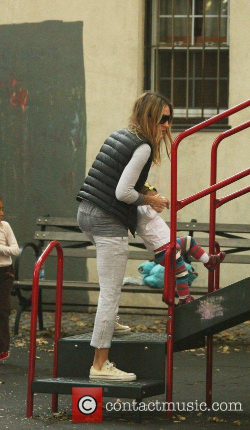 Sarah Jessica Parker takes her children to a...