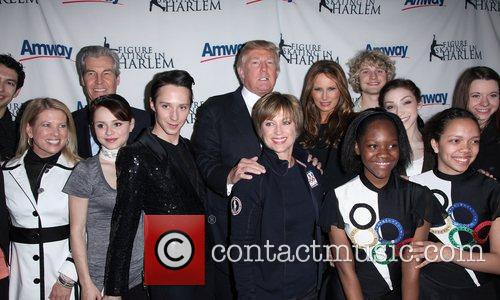 Donald Trump and Dorothy Hamill Melania Trump 6