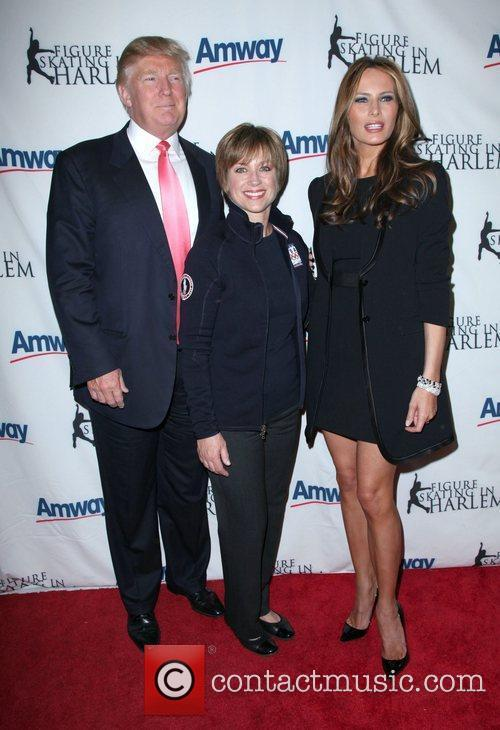 Donald Trump and Dorothy Hamill Melania Trump 7