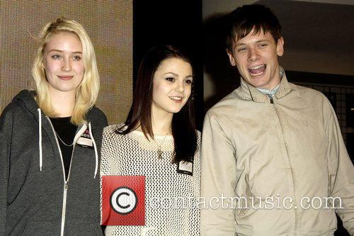Lily Loveless, Kathryn Prescott and Jack O'Connell promotes...
