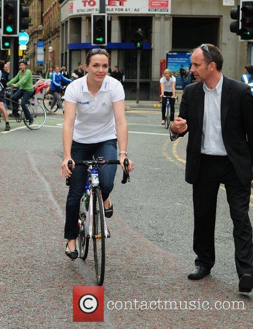 Olympic gold medallist Victoria Pendleton  Sky Ride...