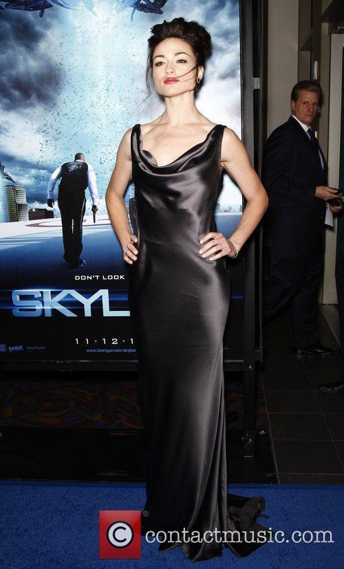 Crystal Reed Los Angeles Premiere of 'Skyline' at...