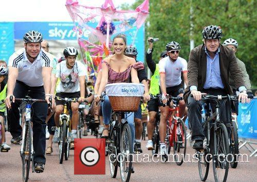 Mayor Of London's Sky Ride at the junction...