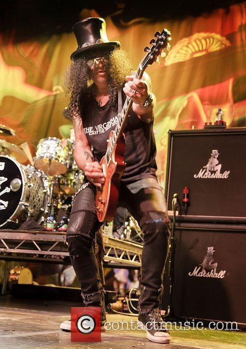 Slash Performing at Manchester Academy