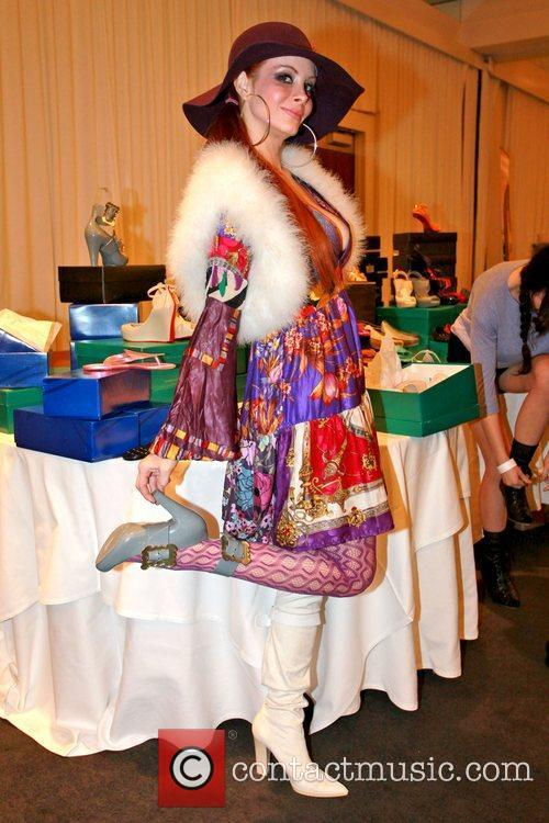 Phoebe Price Celebrities attend a gifting suite held...