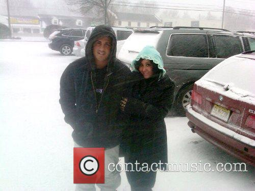 'Jersey Shore' star braves the East Coast blizzard...