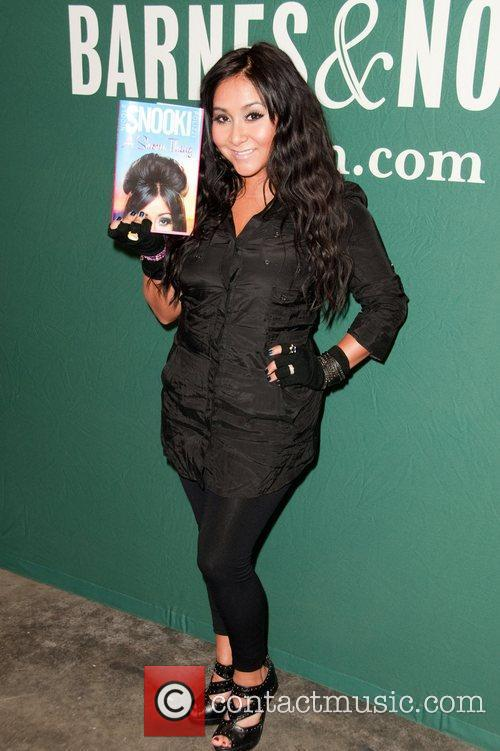 Nicole Polizzi aka Snooki  signs copies of...