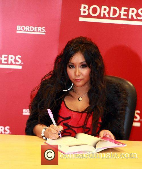 Nicole Polizzi AKA 'Snooki' attends her book signing...