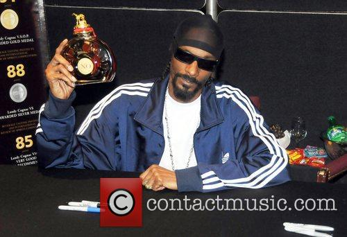 Rapper Snoop Dogg  greets fans during Landy...