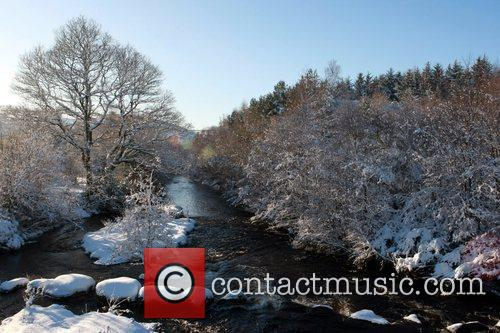 Snow scene from Roundwood, the highest village in...