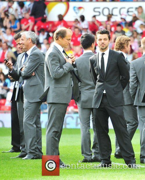 Various athletes and celebrities attend the Soccer Aid...