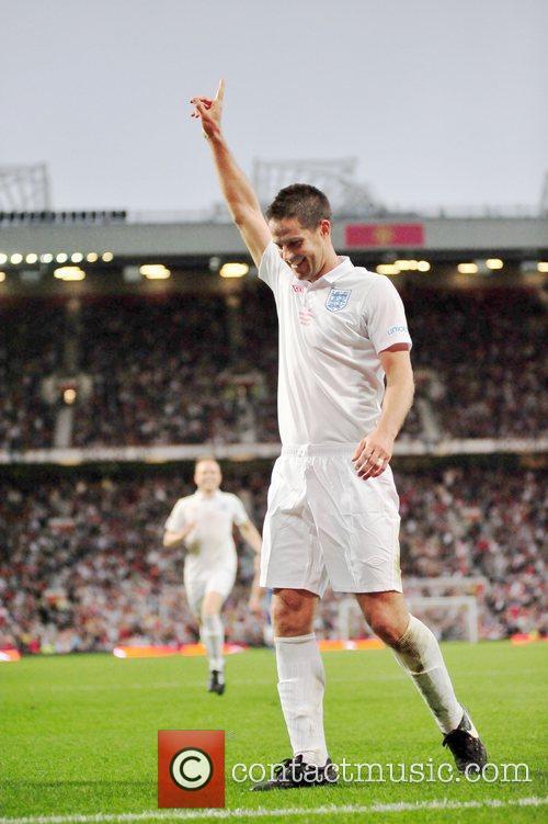 England Player Celebrates 3