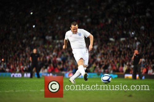 Bradley Walsh 2010 Unicef Soccer Aid charity football...