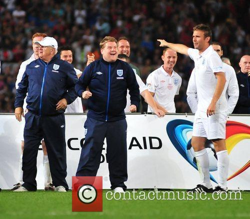 James Corden 2010 Unicef Soccer Aid charity football...