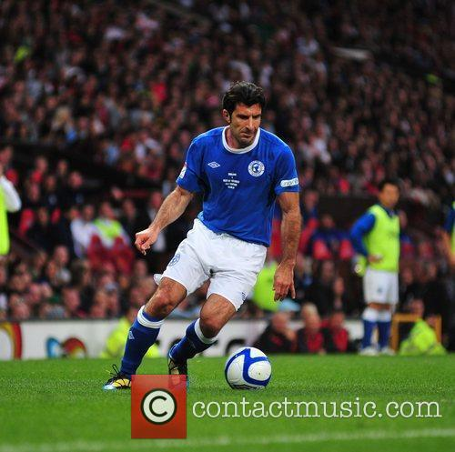 Louis Figo 2010 Unicef Soccer Aid charity football...