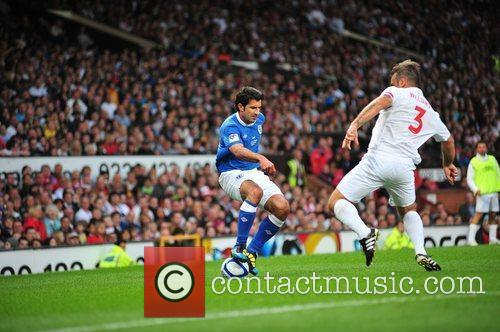 Louis Figo and Robbie Williams 2010 Unicef Soccer...
