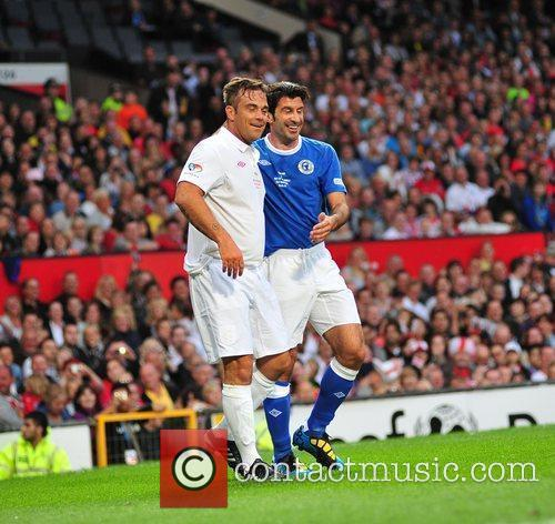 Robbie Williams and Louis Figo 6