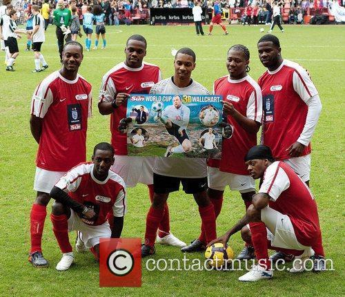 Flawless Celebrity Soccer Six 2010 tournament at Charlton...