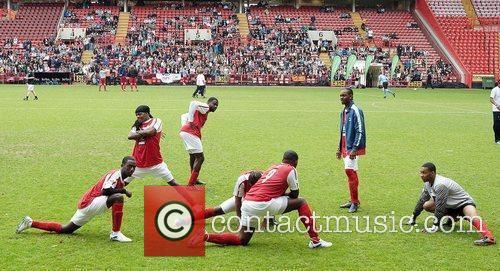 Celebrity Soccer Six 2010 tournament at Charlton Athletic...