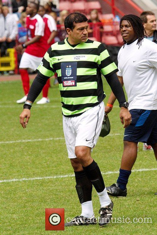 Tamer Hassan Celebrity Soccer Six 2010 tournament at...