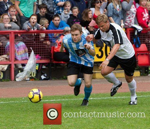 Olly Murs and Jeff Brazier 2010 Soccer Six...