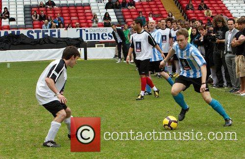 Olly Murs 2010 Soccer Six tournament at Charlton...