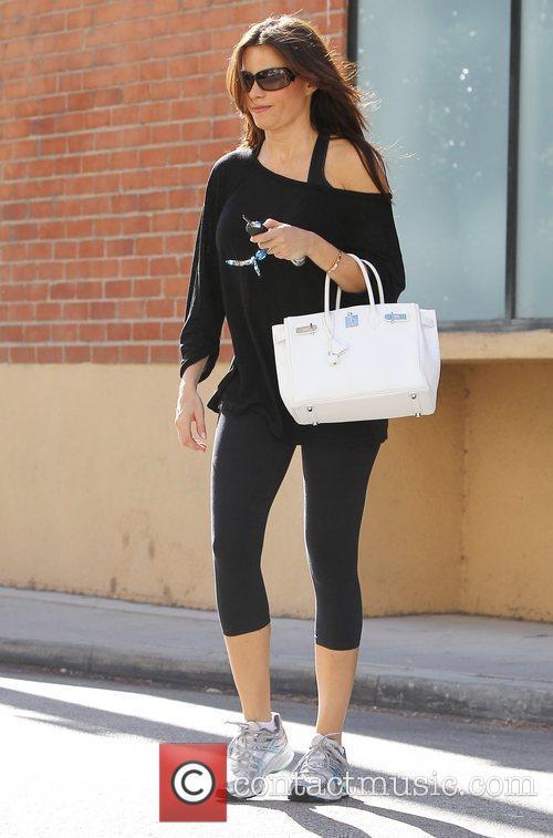 Sofia Vergara is seen leaving the gym in...
