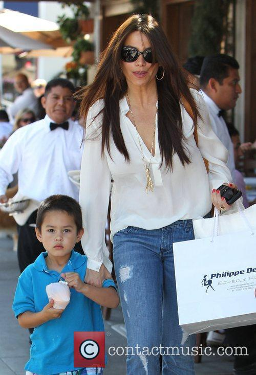 Sofia Vergara seen shopping in Beverly Hills with...