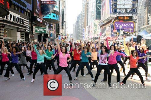 Dancers The New York flash hairography performance held...