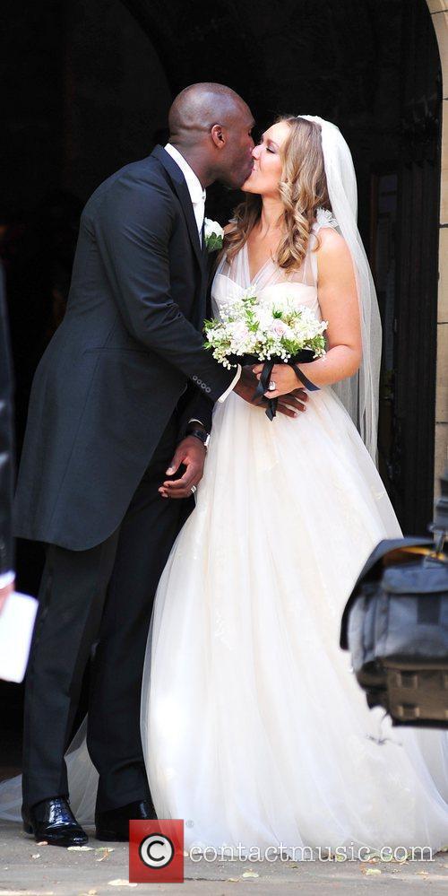 The wedding of Sol Campbell and Fiona Barratt...