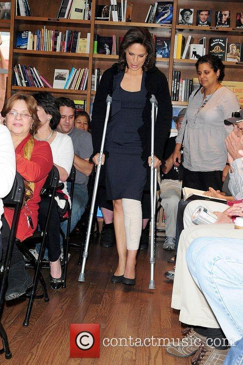 Soledad O'Brien with an injured leg, discusses and...