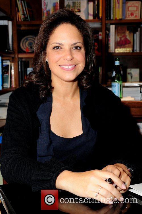 Soledad O'Brien television personality discusses and signs copies...