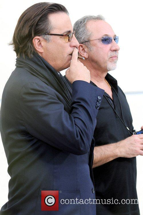 Andy Garcia and Emilio Estefan Latin artists appear...