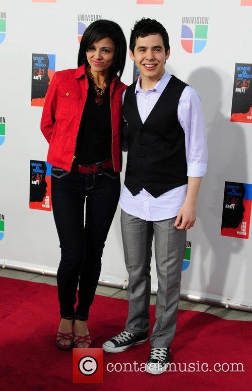 David Archuleta and his mother  Latin artists...