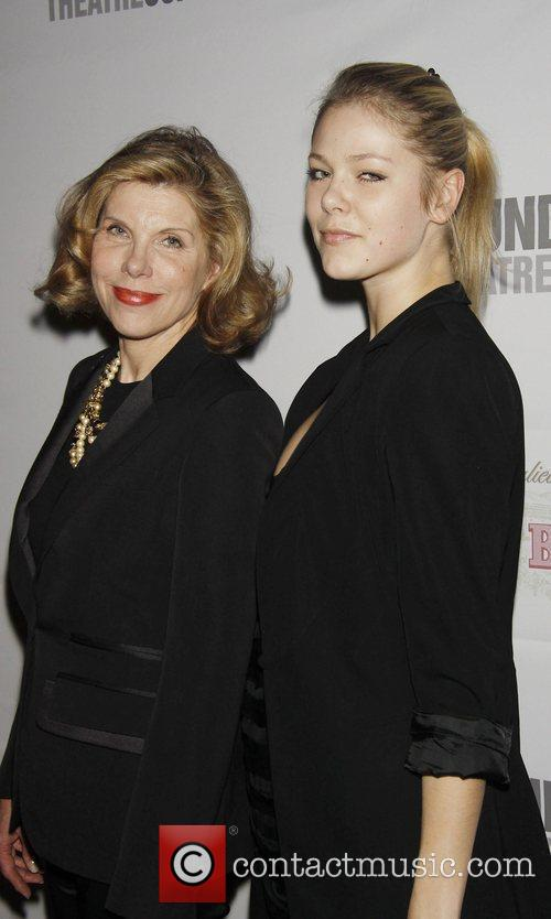 Christine Baranski and her daughter Lily Cowles attending...