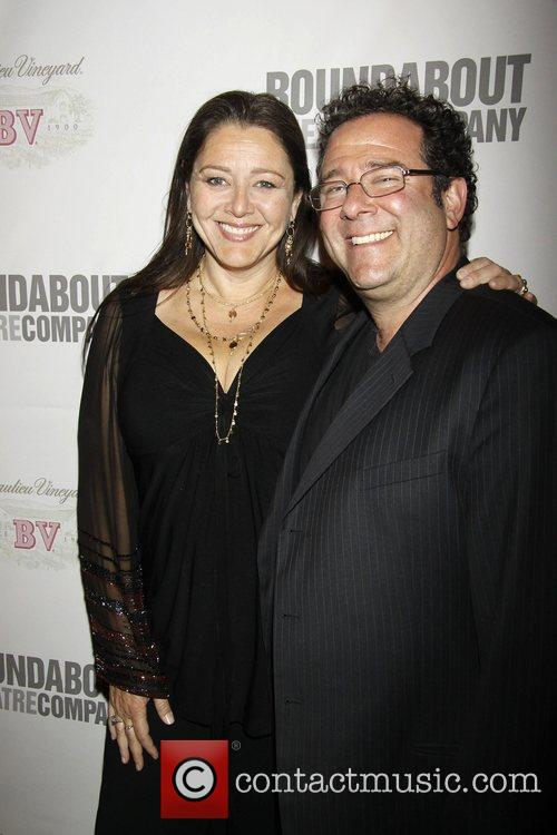 Camryn Manheim and Michael Greif The opening night...