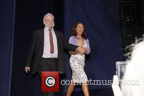 Stephen Sondheim and Vanessa Williams Curtain call for...