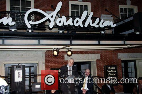 The Stephen Sondheim Theatre marquee unveiling and lighting...