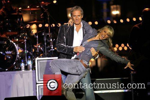 Michael Bolton and Chelsie Hightower perform a dance...