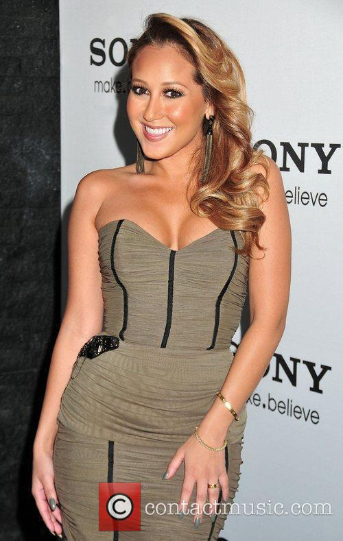 Adrienne Bailon at the unveiling of the world's...