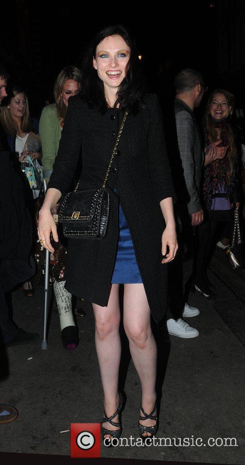 Sophie Ellis-Bextor leaving her birthday party held at...