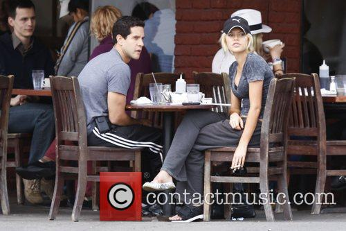 Sophie Monk and New Boyfriend John Diaz Having Breakfast At The Kings Road Cafe.