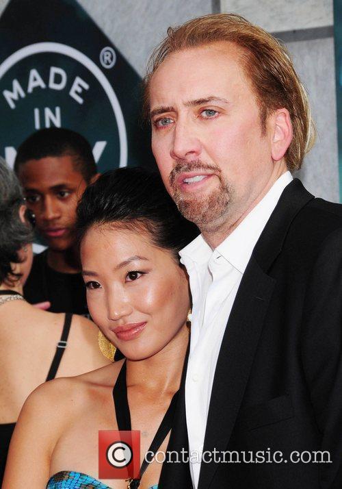 Alice Kim and Nicolas Cage World premiere of...